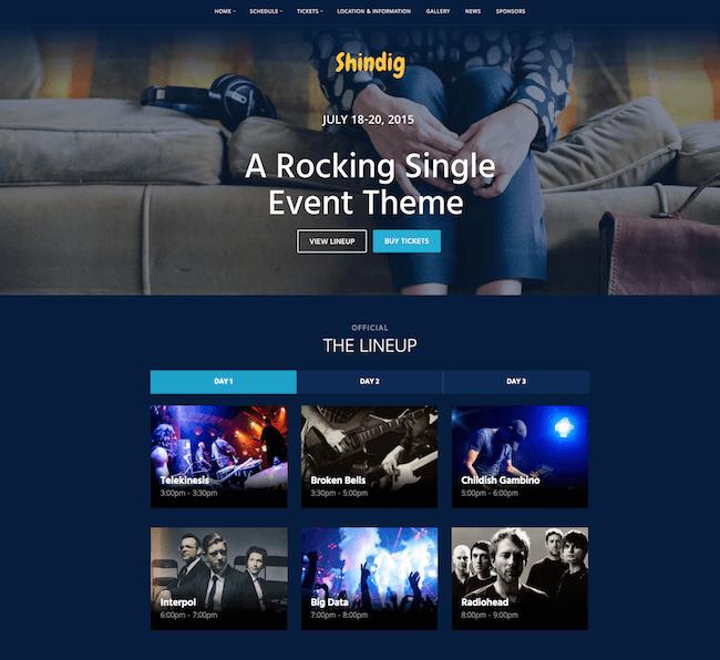 Shindig WordPress Theme