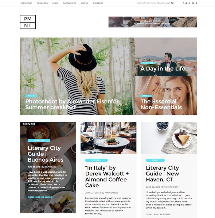 Piemont Fashion Blog Theme