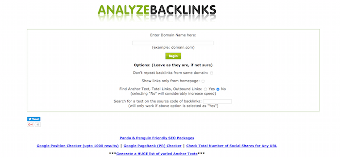 Analyz Backlink