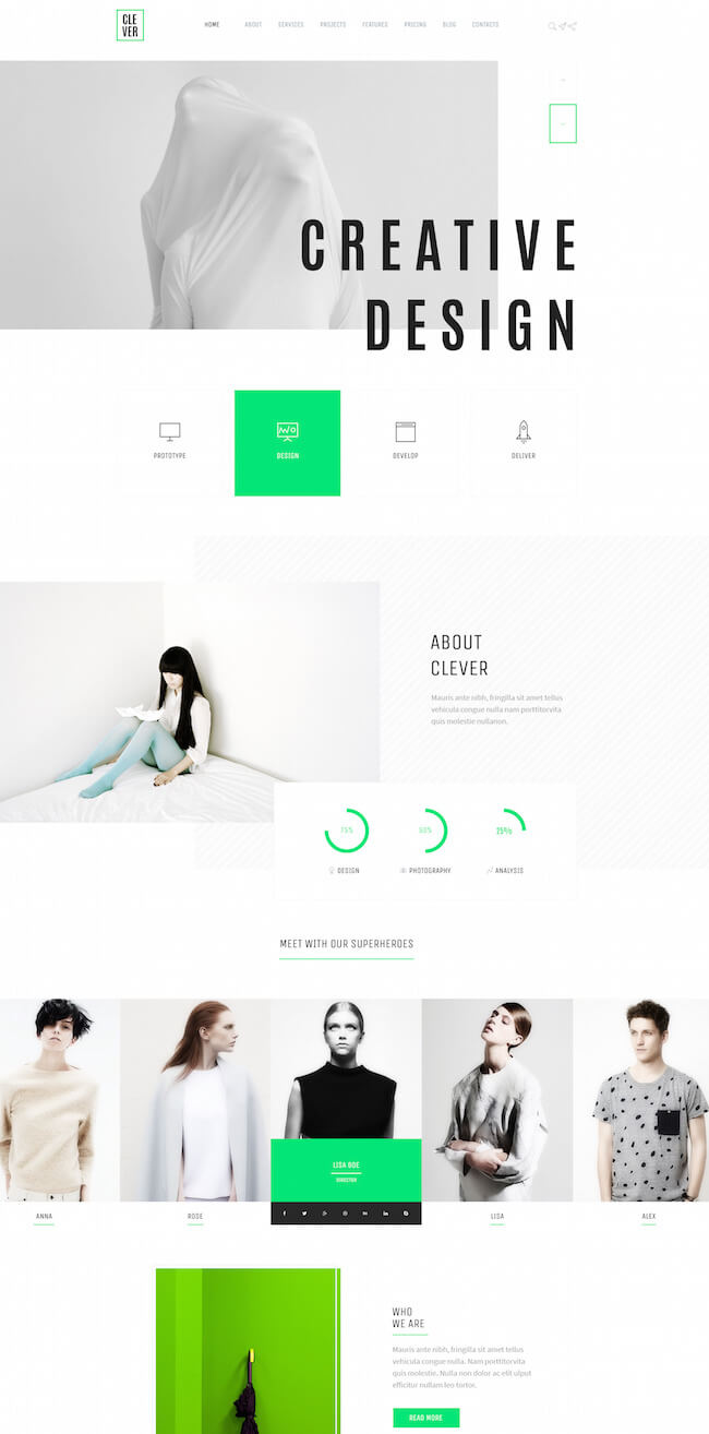 Creative and Design PortfolioTemplate