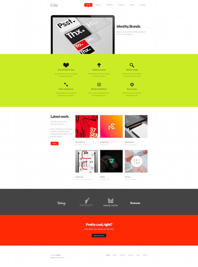 Crisp Creative Designer Portfolio