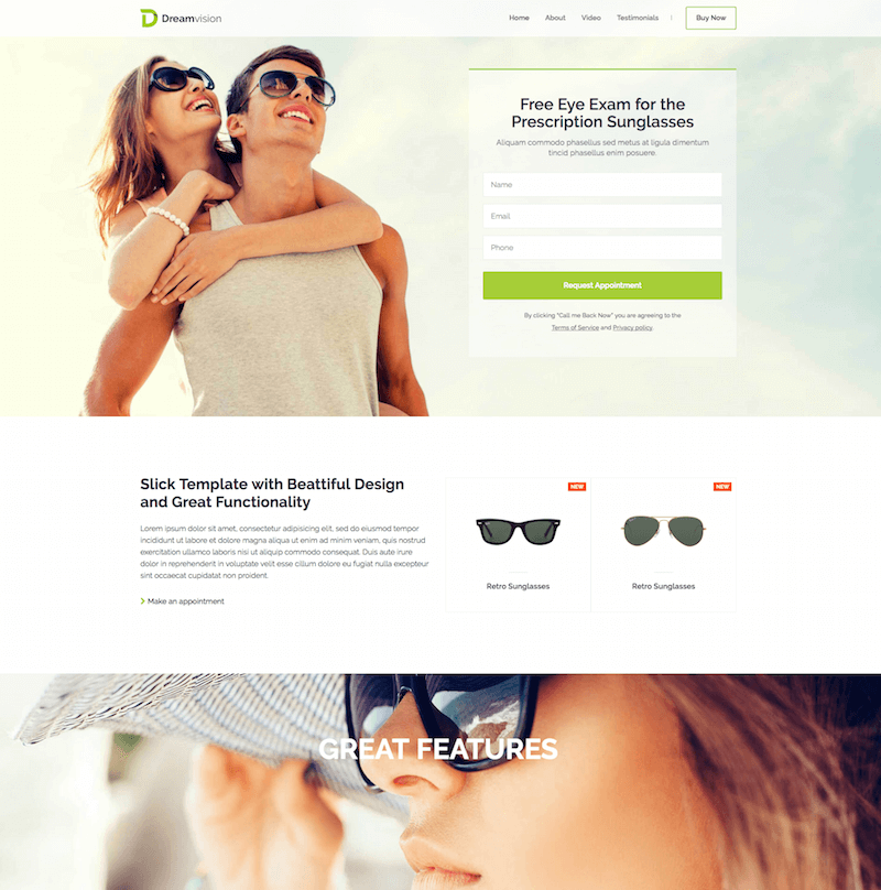 Dreamvision HTML Template