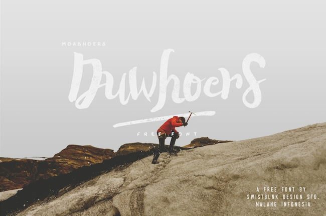 Duwhoers Brush Free Font