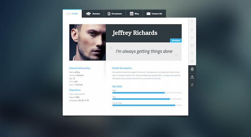 FlexiCV WordPress Theme