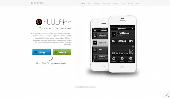 FluidApp Theme