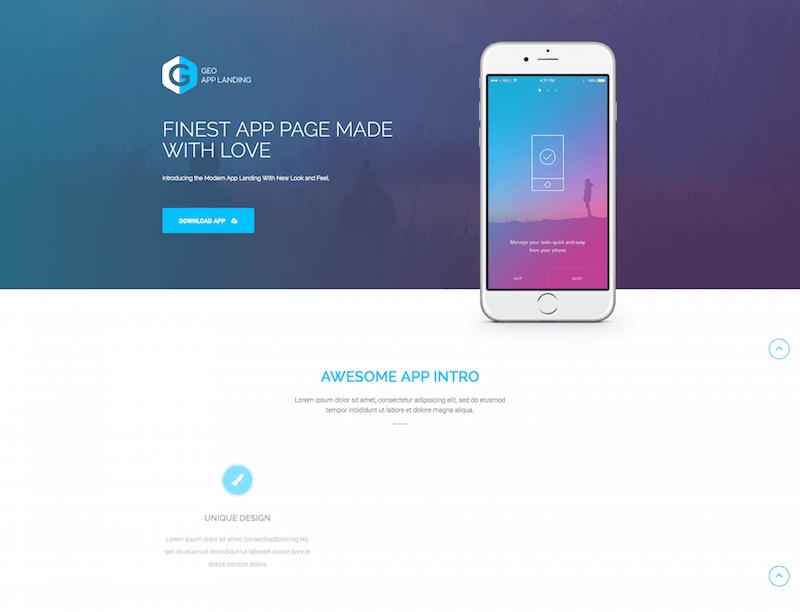 GEO PLUS App Landing Page Template