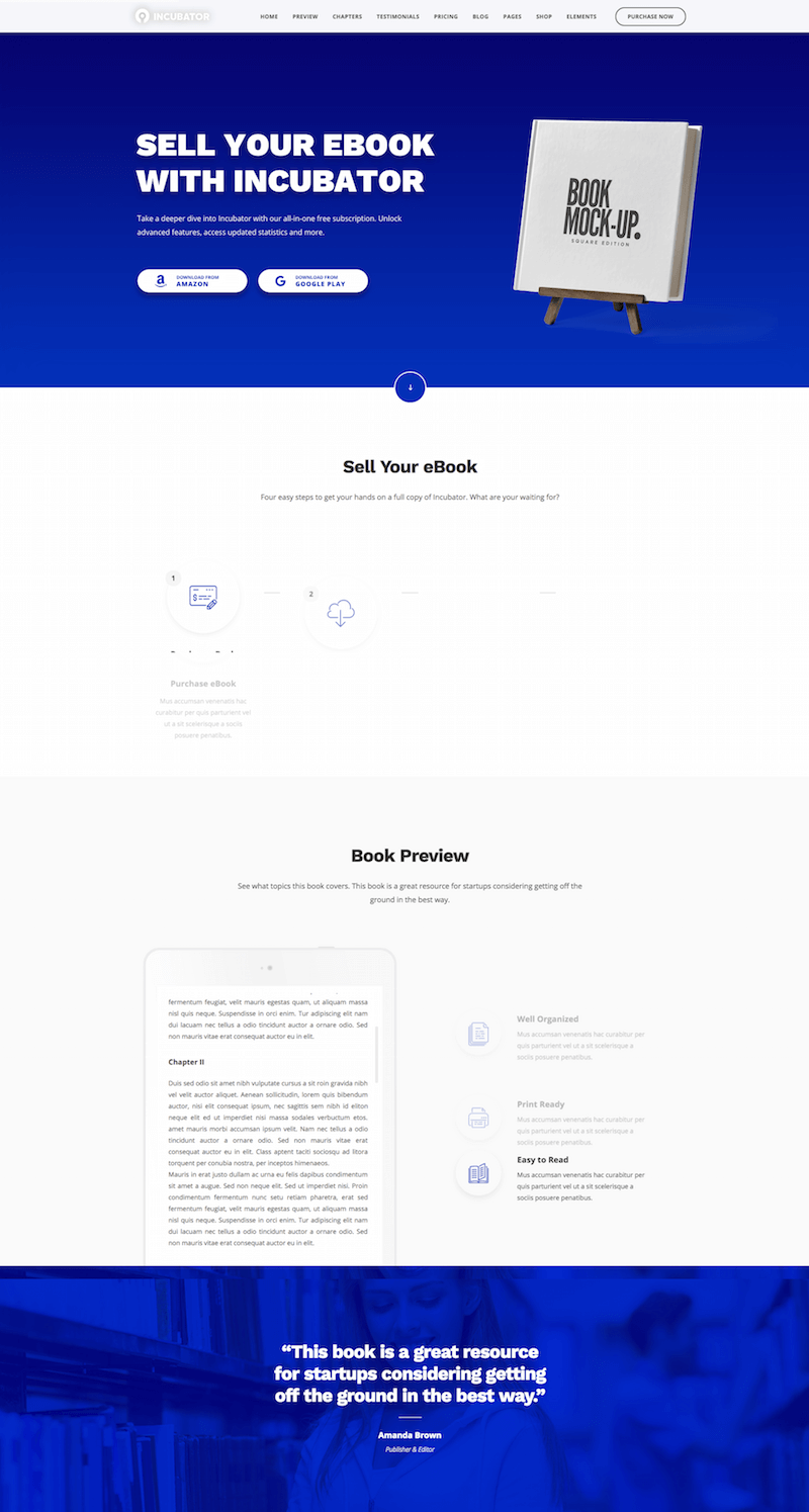 Incubator Startup Business Theme