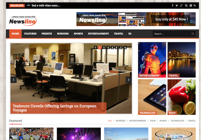 Newsline Magazine Joomla Template