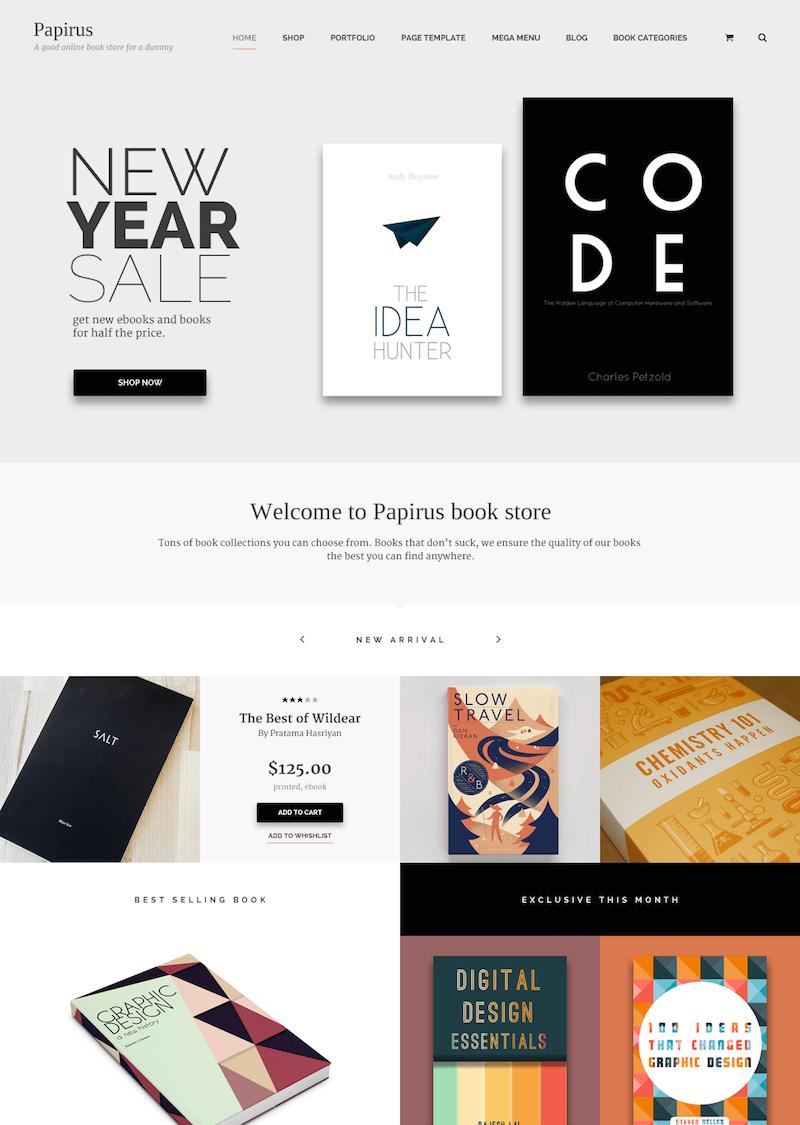 Papirus WordPress Book Store
