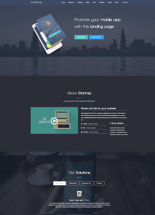 Startrap Mobile App Landing Page