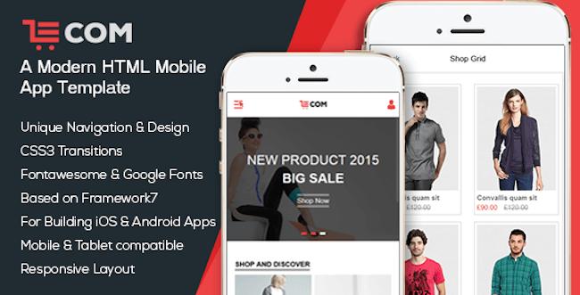 eCom Mobile & App HTML Template