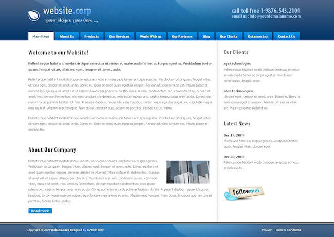 Website Corp Drupal Theme
