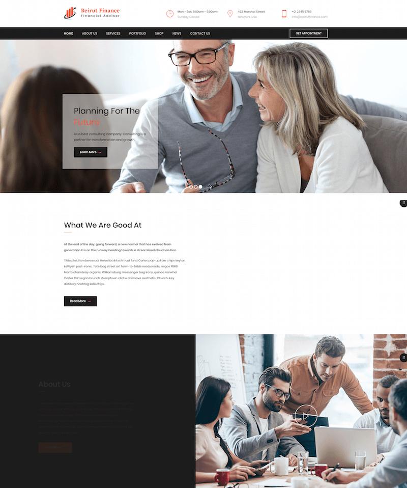 Beiru Consultancy WordPress Theme