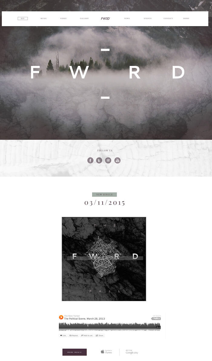 FWRD WordPress Theme