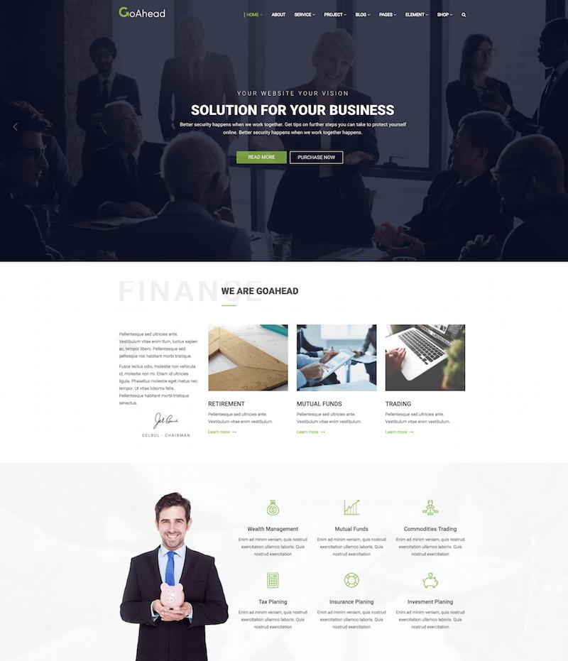 Finance Consulting WordPress Theme
