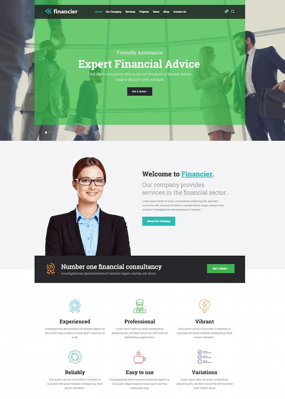 Financier WordPress Theme