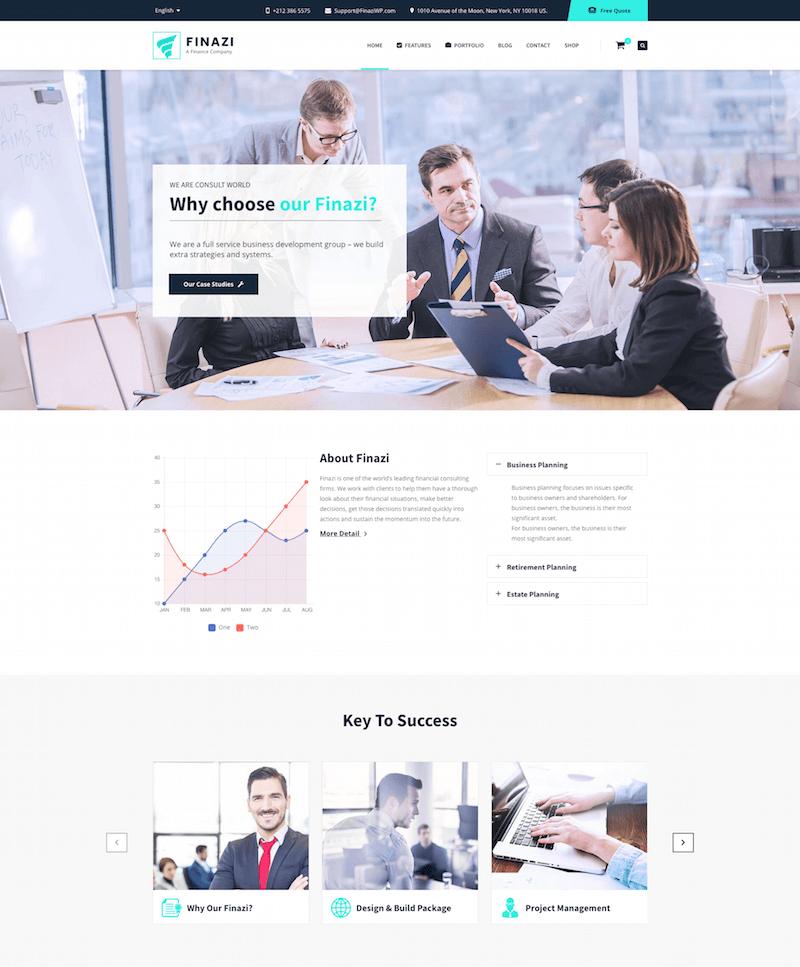 Finazi Finance WordPress Theme