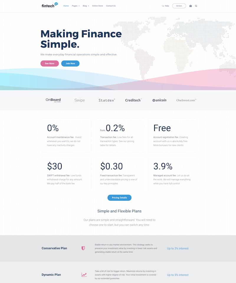 Fintech WP WordPress Theme