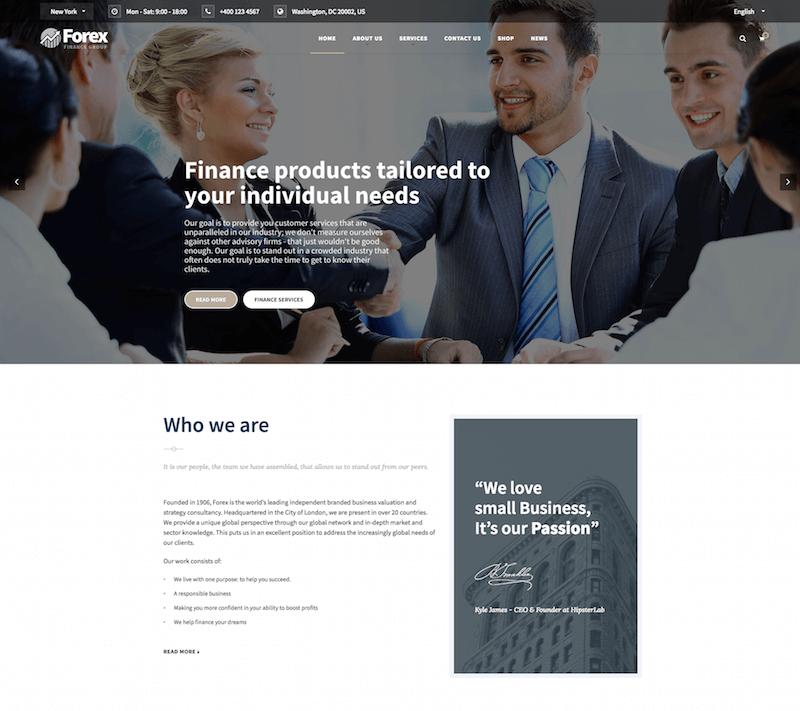 Forex Financial WordPress Theme
