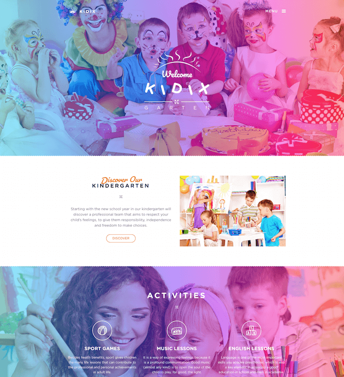 KIDIX A Kindergarten WordPress Theme