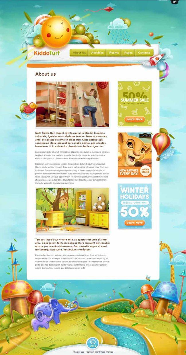 KiddoTurf Kids WordPress Theme