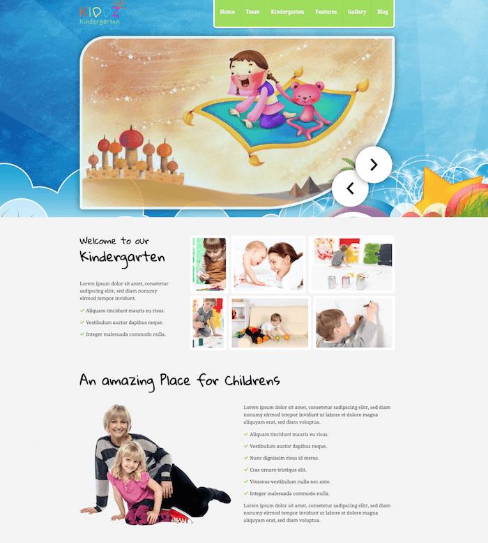 Kiddz WordPress Kindergarten Theme