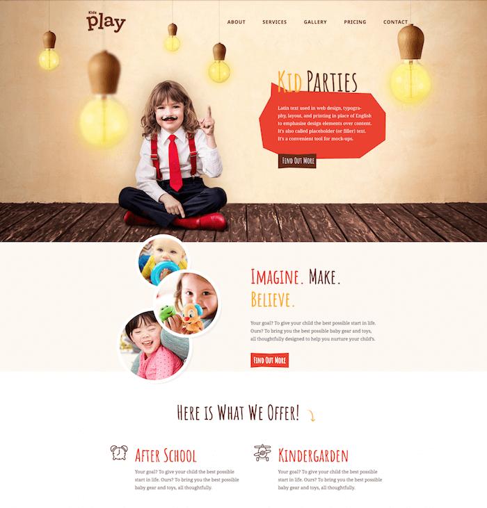 Kids Play Kindergarten WordPress Theme