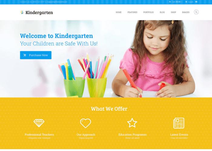 Kindergarten Children WordPress Theme