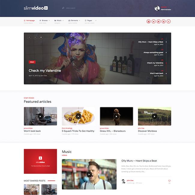 Slimvideo Video WordPress Theme