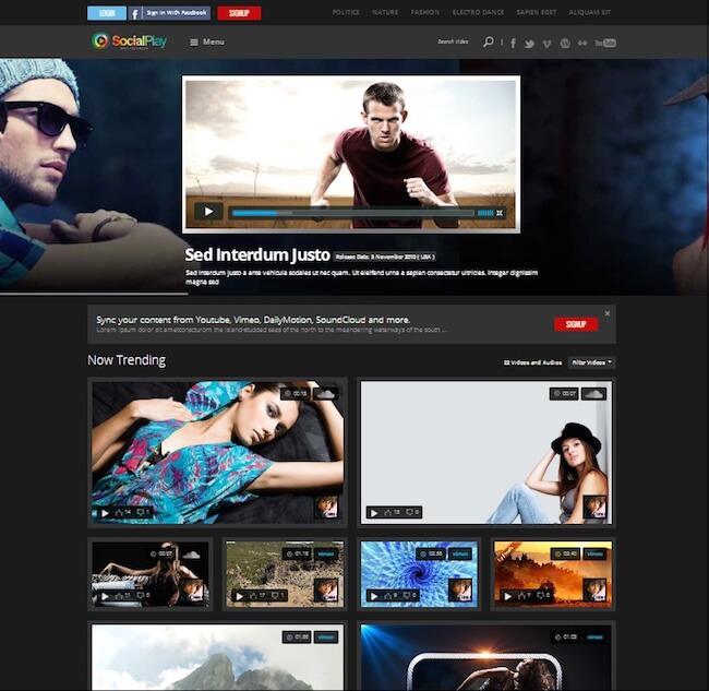 SocialPlay WordPress Theme