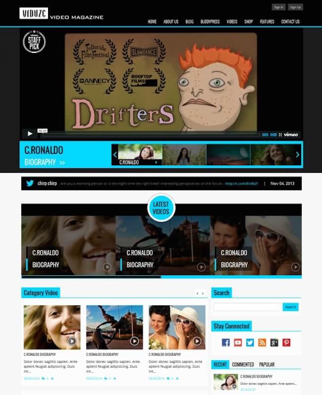 Viduze Video WordPress Theme