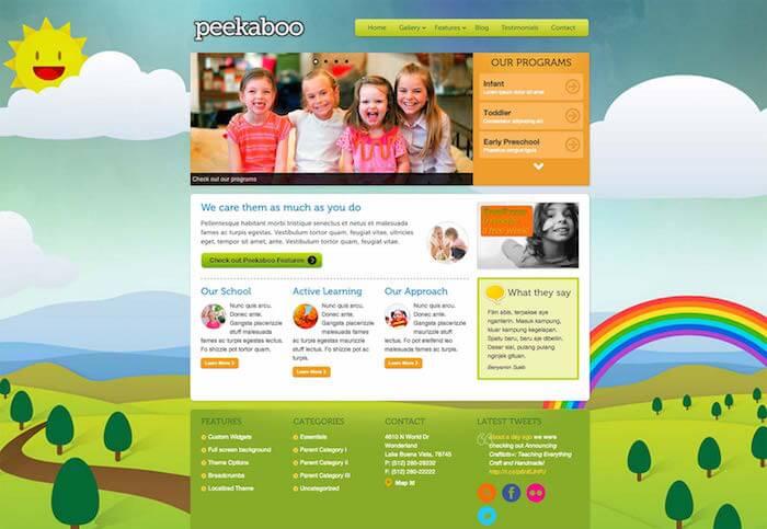 peekaboo wordpress theme