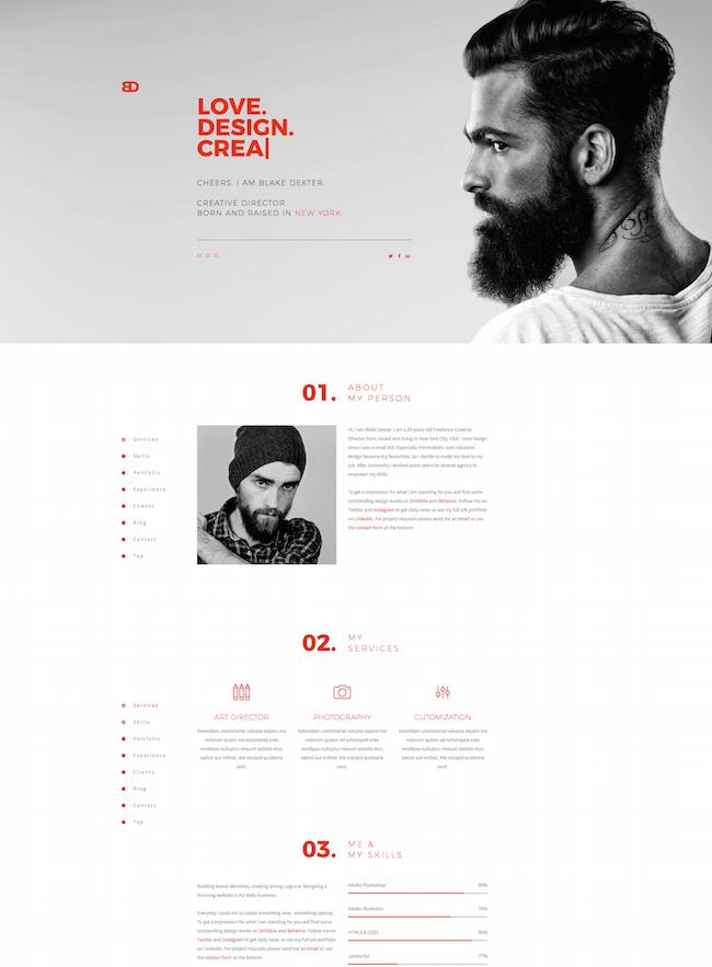 BlakeD Portfolio & Resume Template