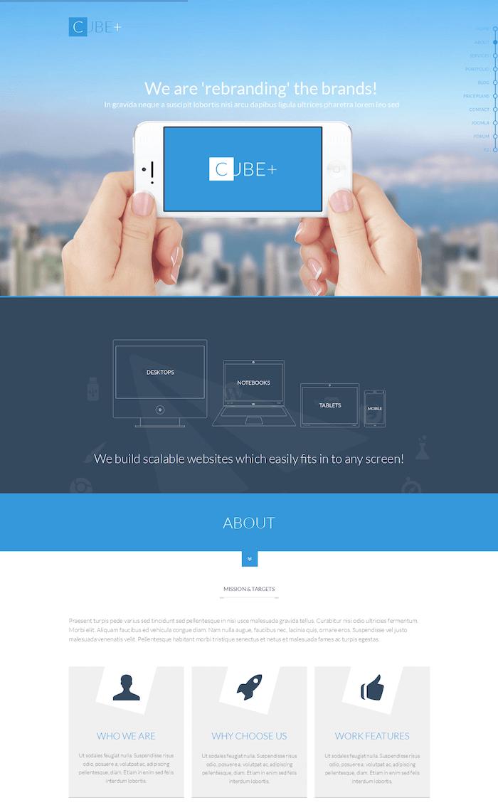 Cube+ Joomla Template