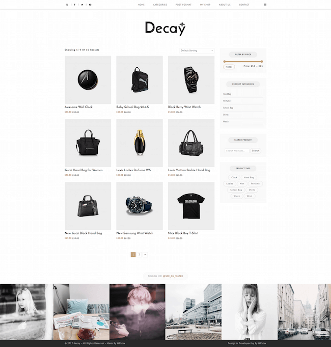 Decay WordPress Theme