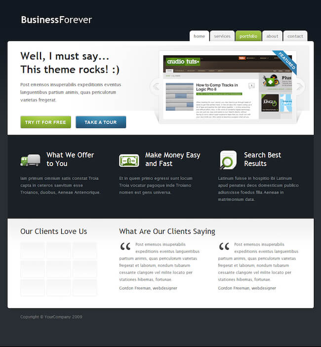 Business Forever Template