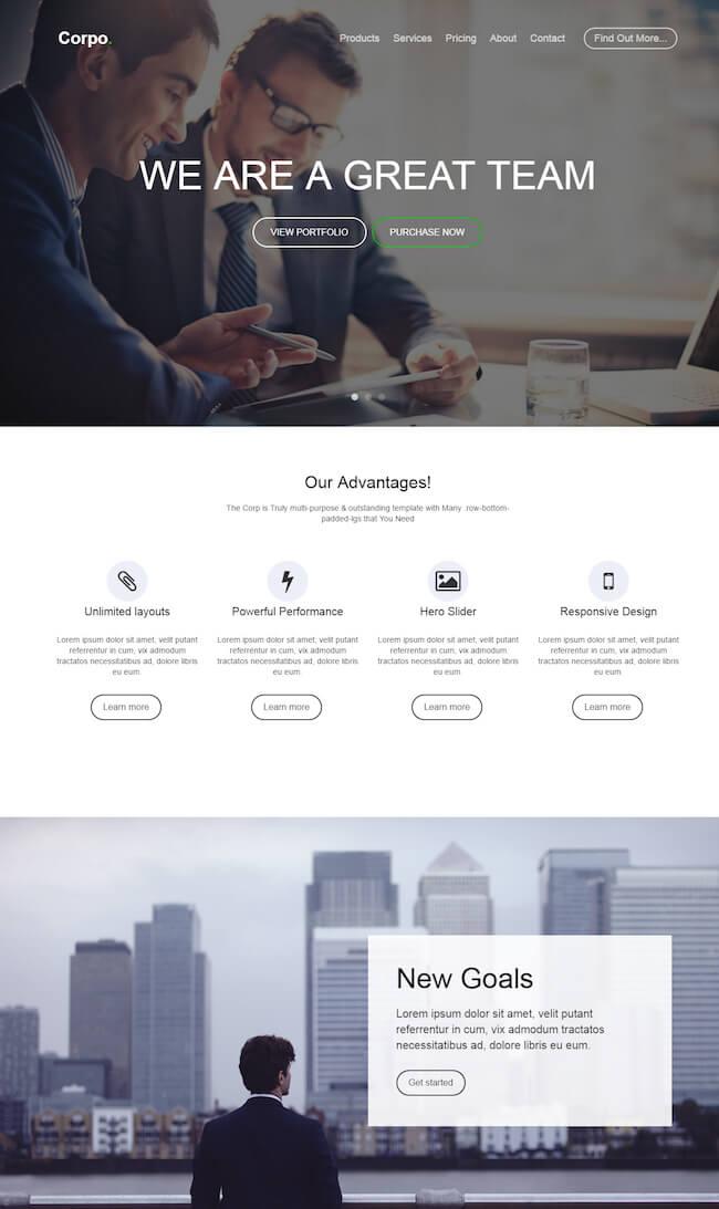 Corpo HTML5 Multi-Purpose Template