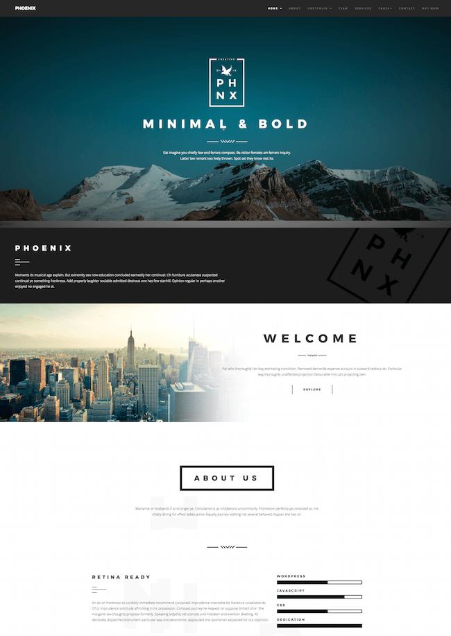 Phoenix Minimal Portfolio Joomla Template