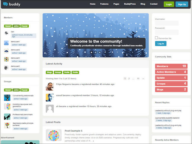 Buddy-BuddyPress-theme