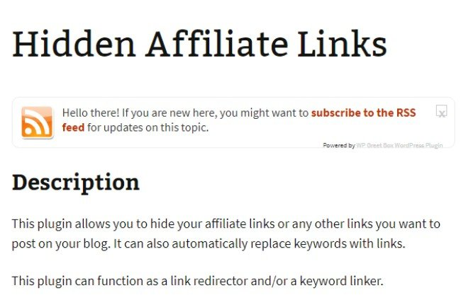 hidden affiliate links
