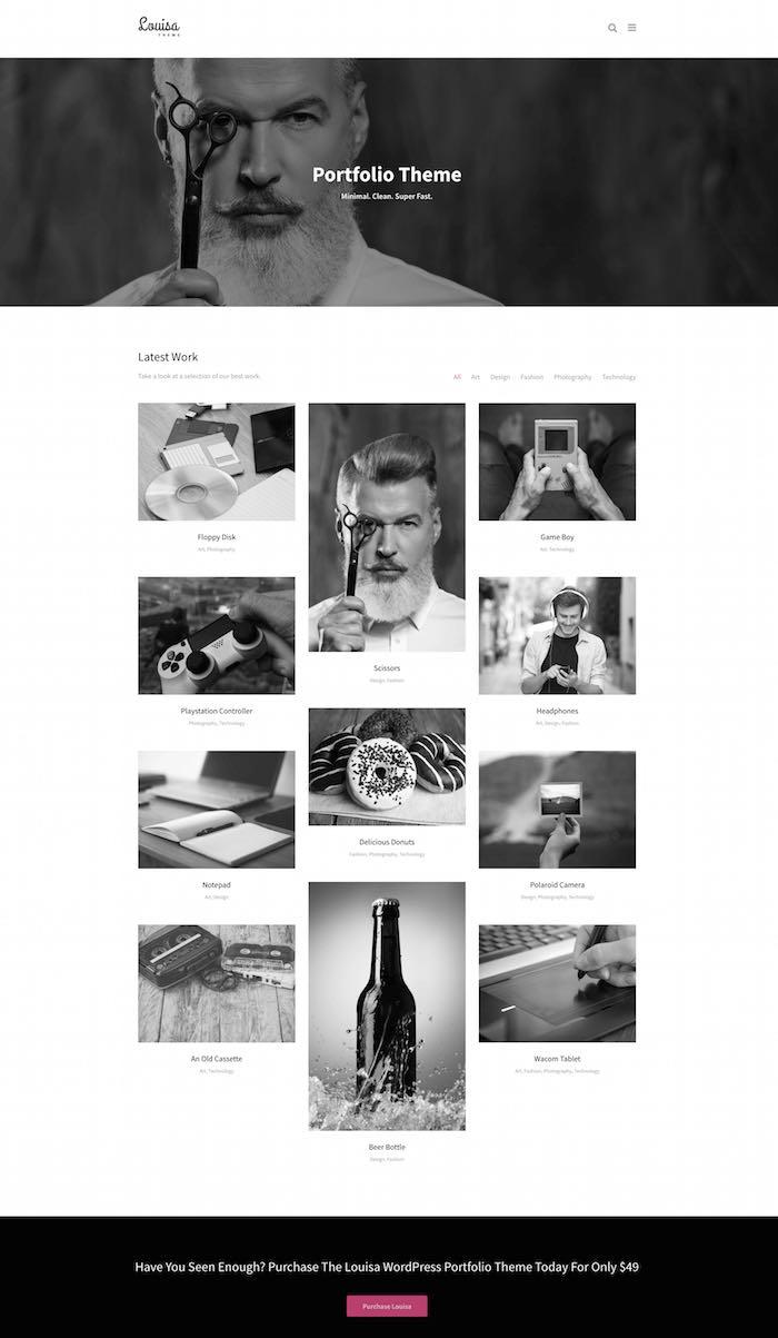 Louisa WordPress Portfolio Theme