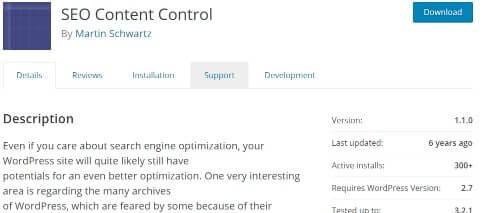 SEO Content Control