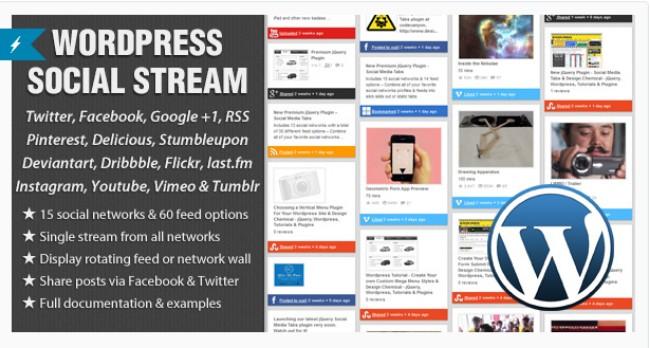 wp social stream