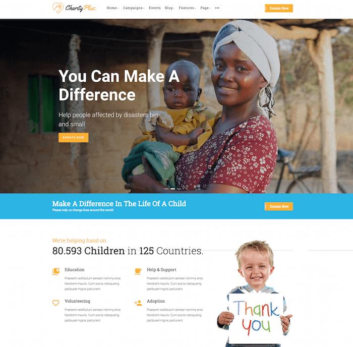 CharityPlus Drupal Theme