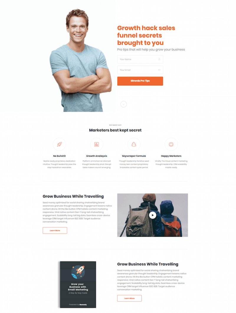 Marketing Pro WordPress theme