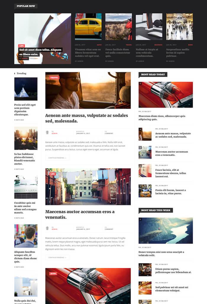Portal News Drupal Theme