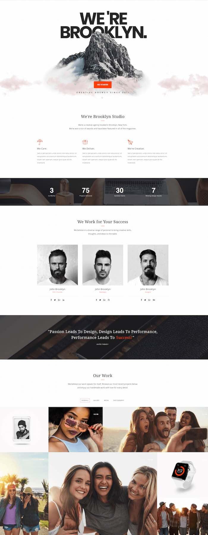 Brooklyn Creative Multi-Purpose WordPress Theme