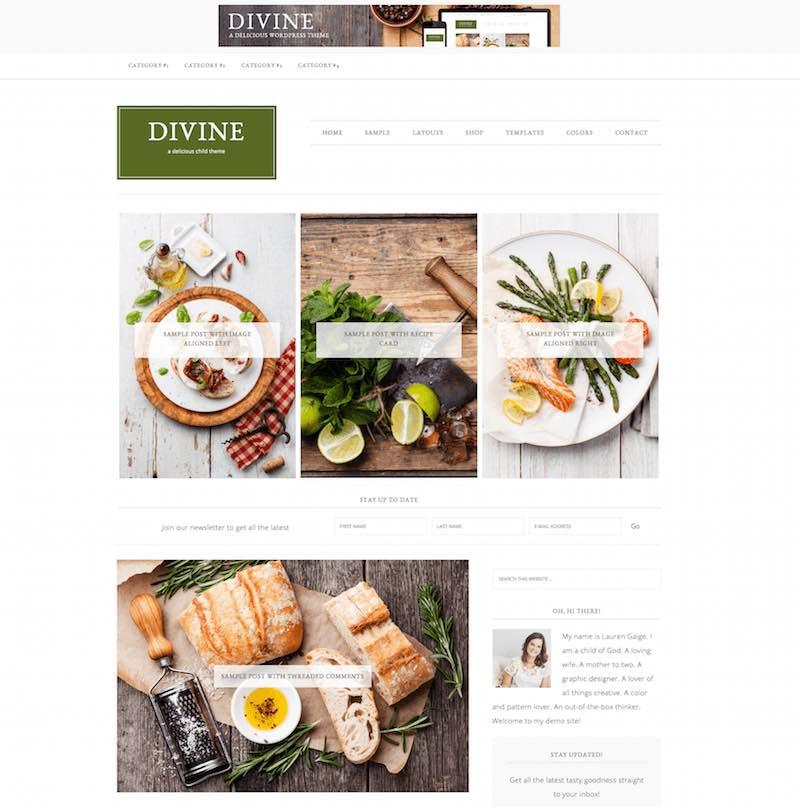 Divine Food Theme