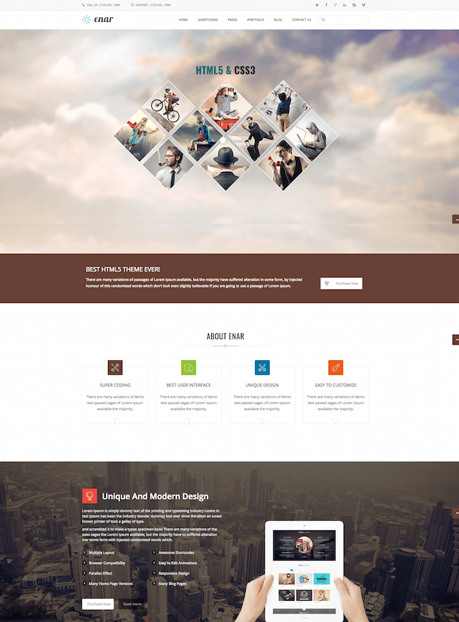 Enar Multipurpose Drupal 8 Theme