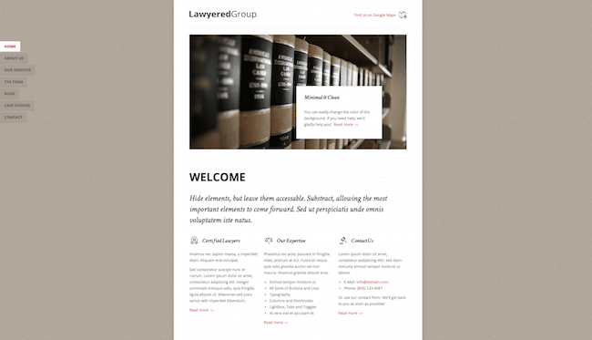 Lawyered Group Drupal Theme
